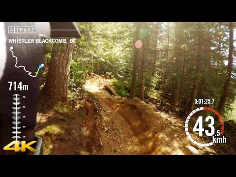 Whistler Bike Park Freeride - GoPro 4K with Trace