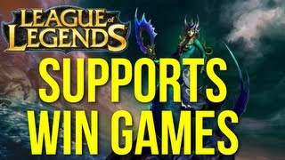 Supports Win Games - 4v5 Win w/ Nami Support (League of Legends Live Commentary)
