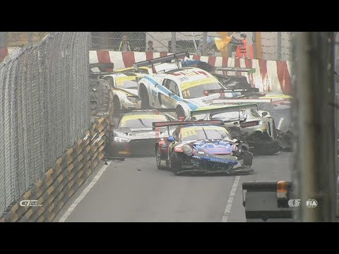 FIA GT World Cup 2017 Qualification Race Macau Grand Prix Huge Pile Up