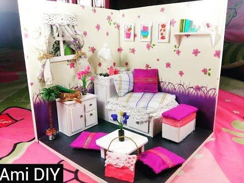 DIY Miniature Dollhouse Bedroom | Cách tự làm căn phòng nhỏ xinh cho búp bê | Ami DIY
