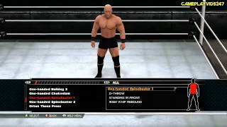 WWE 2K15: Create A Moveset Showoff: All Signatures And