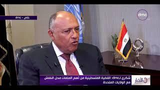 سامح شكري: القضية الفلسطينية من أهم