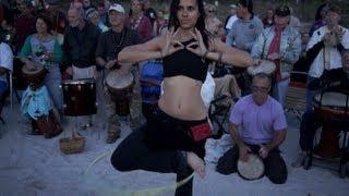 Nokomis Beach Drum Circle 2013 - Beautiful Hoop Girls view on youtube.com tube online.