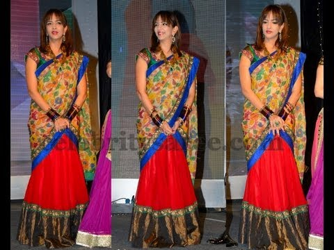 Celebrities designer half sarees youtube