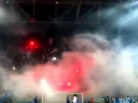 20.02.2014 Dnipro Dnipropetrovsk v Tottenham fulltime-Dnipro Dnipropetrovsk  supporters, ultras