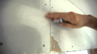 Spackla gips pappersremsa
