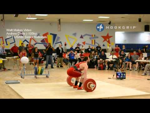 Andrew Davis (-105kg) 2013 Senior Nationals Attempts