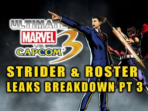 Ultimate Marvel VS Capcom 3 STRIDER HIRYU & ROSTER LEAKS BREAKDOWN by Maximilian Episode 3
