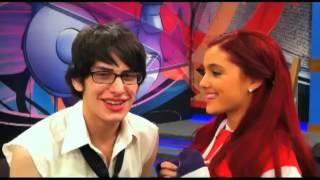 Matt & Ariana Victorious Set Kissing Scene