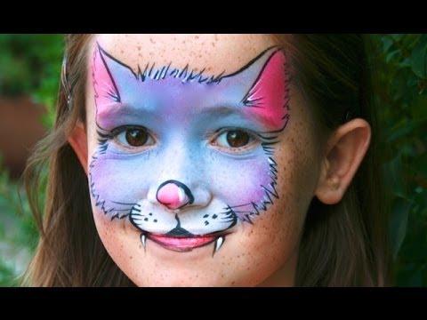 le petit chat kitty tutoriel maquillage facile pour enfants maquillage de chat youtube. Black Bedroom Furniture Sets. Home Design Ideas
