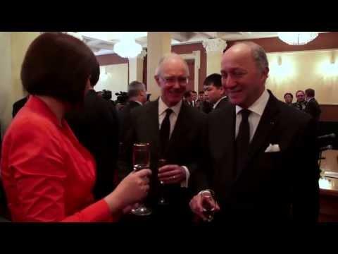 Le Président du notariat Français avec Laurent Fabius en Mongolie