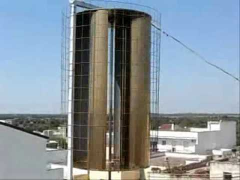 Savonius wind turbine from Soleto - YouTube