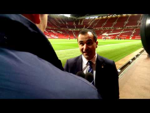 Roberto Martinez's Old Trafford reaction.