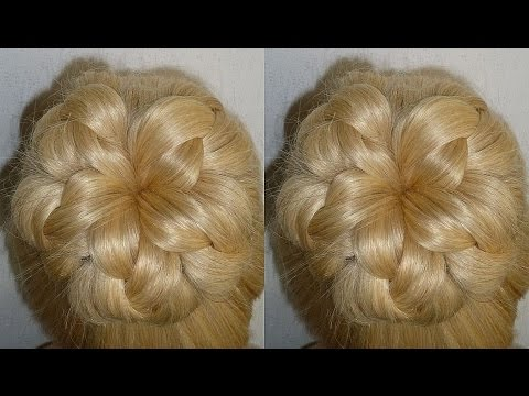 Amazing Prom/Wedding Donut Bun Hairstyle. Evening Updo. Penteados