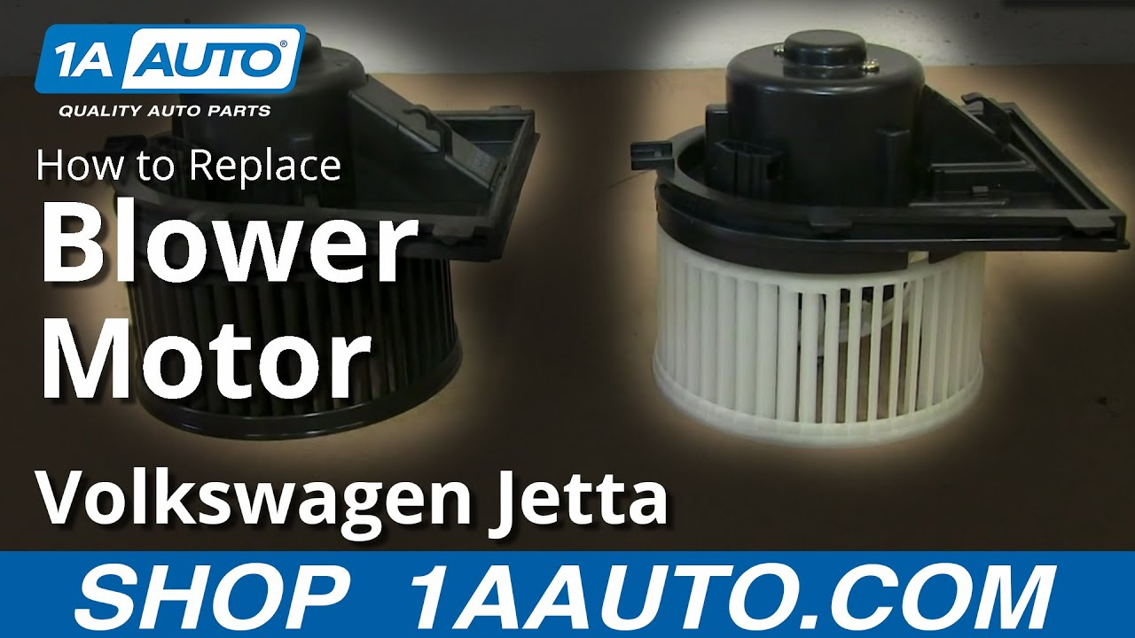 How to install replace heater ac blower fan motor 1999 05 for Vw passat blower motor resistor