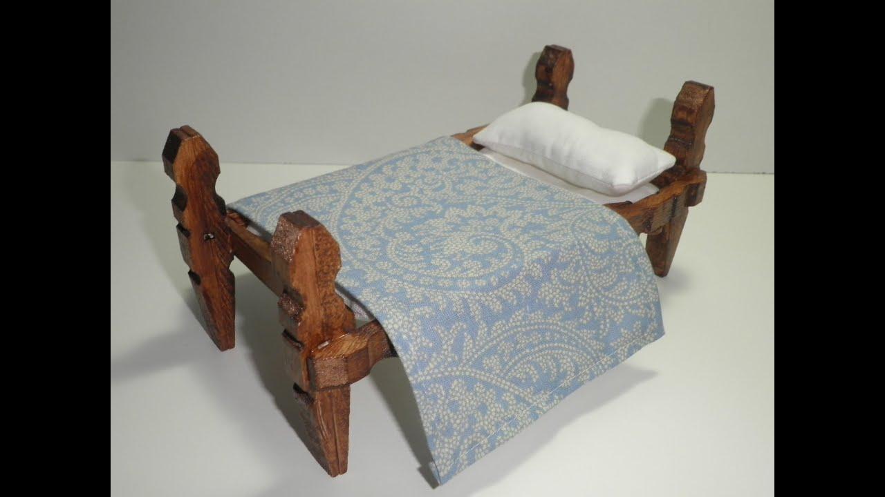Tutorial para hacer una cama con pinzas de madera - Hacer una cama de madera ...