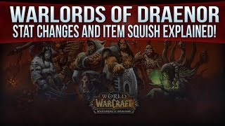 Warlords Of Draenor Stat Changes And Item Squish