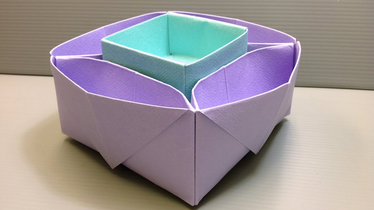 Origami desk organizer or snack dish for school or parties - Origami desk organizer ...