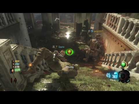 Black Ops 3 : Gorod Krovi ZOMBIES Descent dlc, PPSH, HG40, CROSSBOW. GAMEPLAY.
