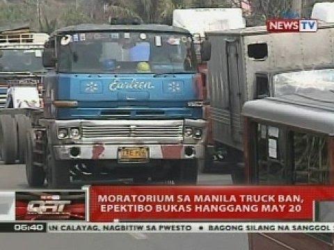 QRT: Moratorium sa Manila truck ban, epektibo bukas hanggang May 20
