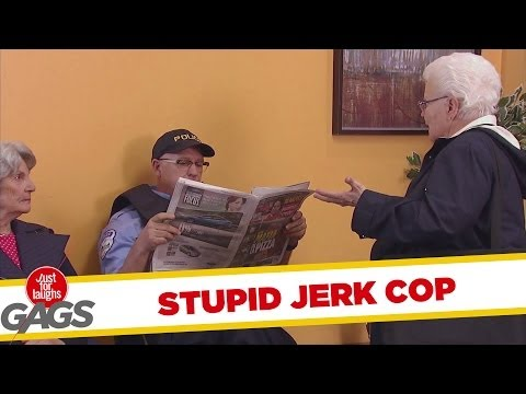 Jerk Cop Steals Old Lady's Seat