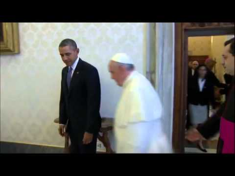 Barack Obama has first audience with Pope Francis
