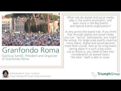 Interview to Granfondo Roma President, Gianluca Santilli