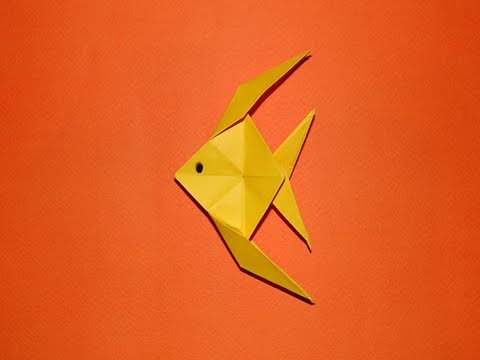 How to make an origami fish 01 youtube for How to make fish