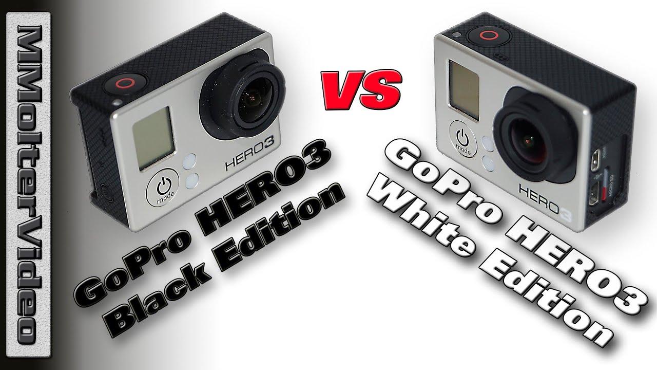 gopro hero 3 black vs gopro hero3 white edition von. Black Bedroom Furniture Sets. Home Design Ideas