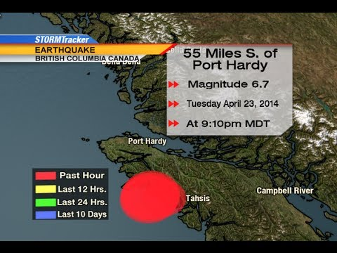 Earthquake : 6.6 Earthquake strikes off the Coast of Vancouver British Columbia (Apr 23, 2014)