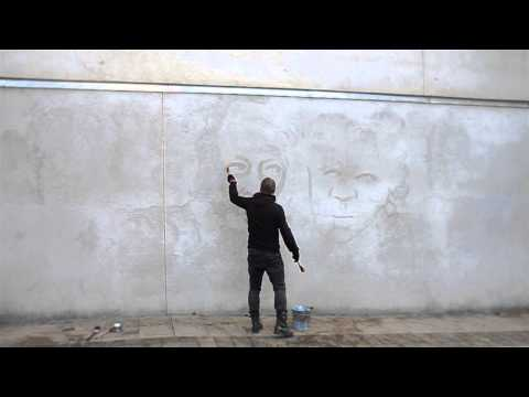 Joakim Stampe - Action water painting for climate defenders