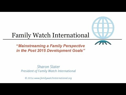 Mainstreaming the Family in the Post 2015 UN Development Goals