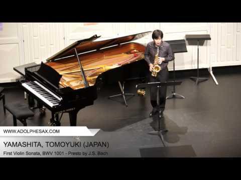 Dinant 2014 - YAMASHITA Tomoyuki (First Violin Sonata, BWV 1001 - Presto by J.S. Bach)