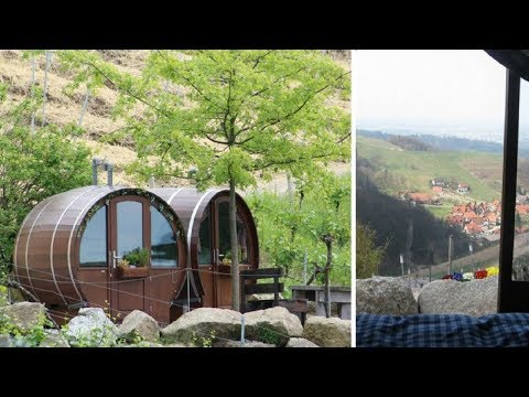 This Hotel Lets You Sleep In A Giant Wine Barrel!