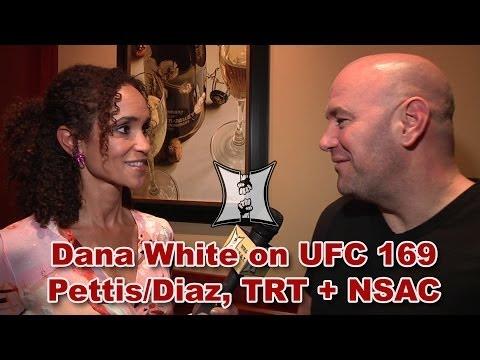 Dana White on Pettis vs Diaz, Roy Nelson at NSAC, UFC 169 / Super Bowl Dilemma + TRT