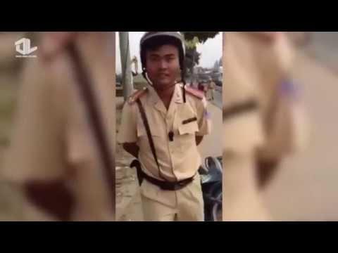 Cảnh sát giao thông đánh dân có giang hồ bảo kê