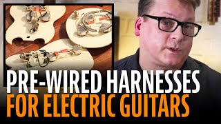 Watch the Trade Secrets Video, Golden Age Pre-wired Harnesses: premium hand-soldered pickup for electric guitar