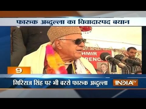 Farooq Abdullah slams Modi says let Modi voters jump into sea