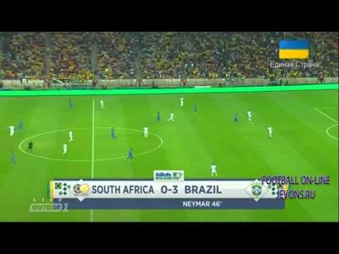 Friendly: South Africa 0-5 Brazil (all goals - highlights - HD)