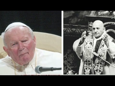 Historic canonization for two popes