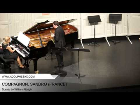 Dinant 2014 – COMPAGNON, Sandro (Sonate by William Albright)