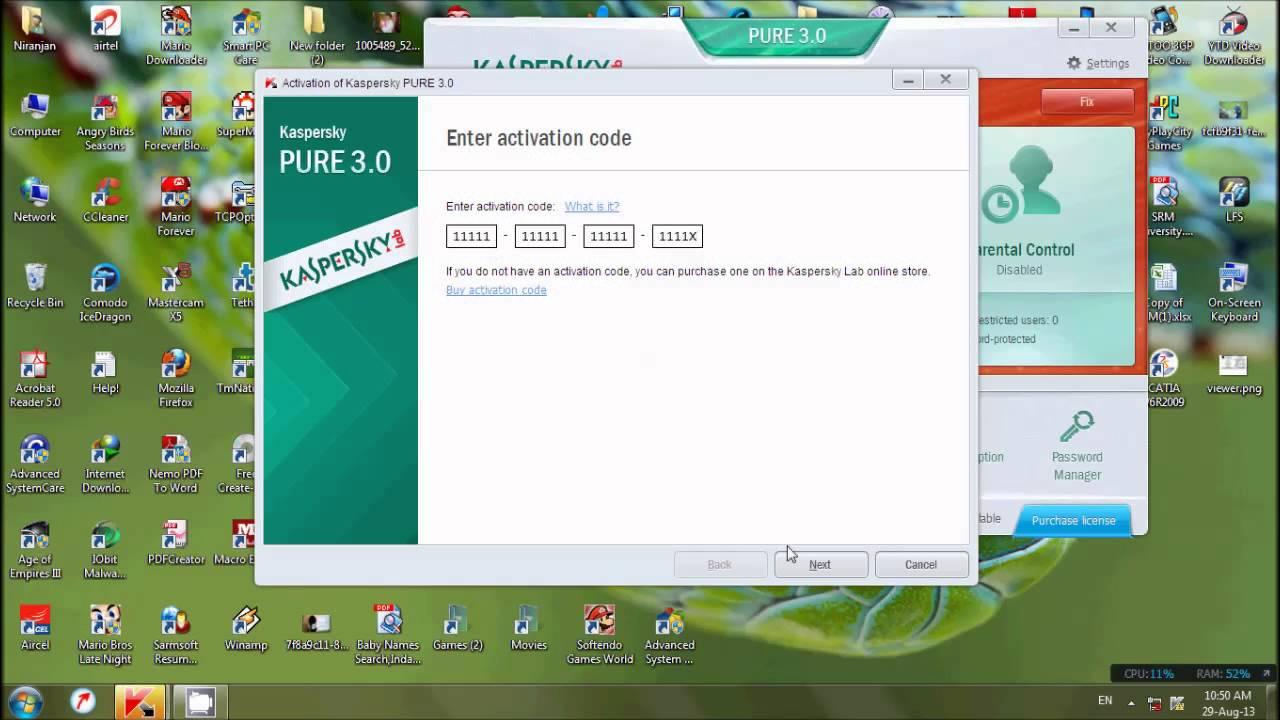 activation code kaspersky 2013