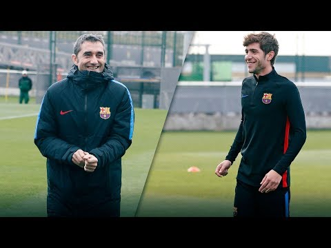 [FULL STREAM] Press conferences & training ahead of Barça - Sporting Portugal