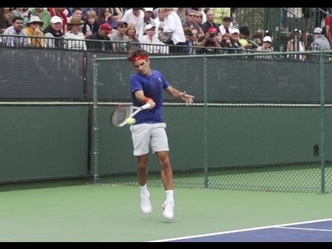 Roger Federer In Super Slow Motion - Incredible Movement And Big Forehands