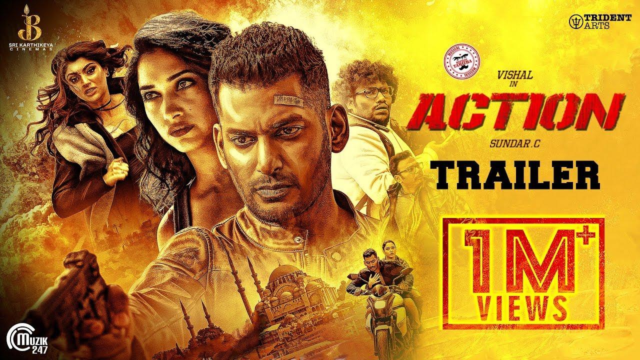 Action Telugu Trailer   Vishal, Tamannaah   Hiphop Tamizha   Sundar.C   Official