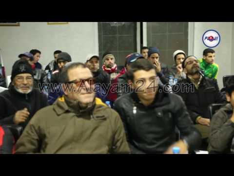 تفاعل الجمهور مع هدف المنتخب المغربي
