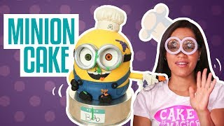 How To Make a BOB THE MINION from Despicable Me out of CAKE | Yolanda Gampp | How To Cake It