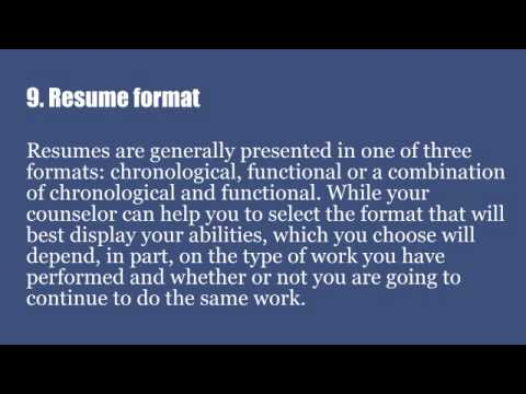courseworks in resume