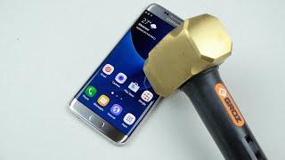 Samsung Galaxy S7 Edge Hammer & Knife Scratch Test