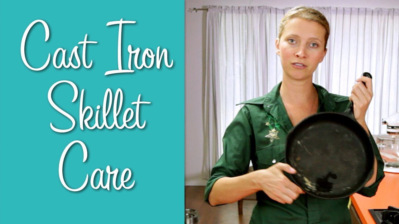 cast iron skillet care learn to cook youtube. Black Bedroom Furniture Sets. Home Design Ideas